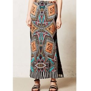 Anthropologie maeve moorea maxi skirt size M